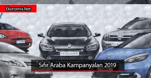 sıfır faizli araba kampanyası 2019